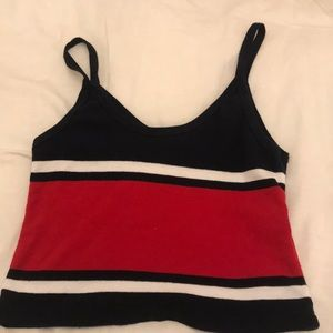 navy and red brandy melville top